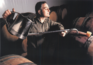 Philippe Chavet in the cellar of Domaine Chavet