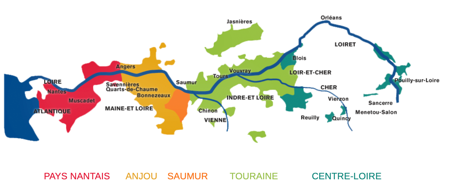 Loire Valley Wine Map | PENTICTON