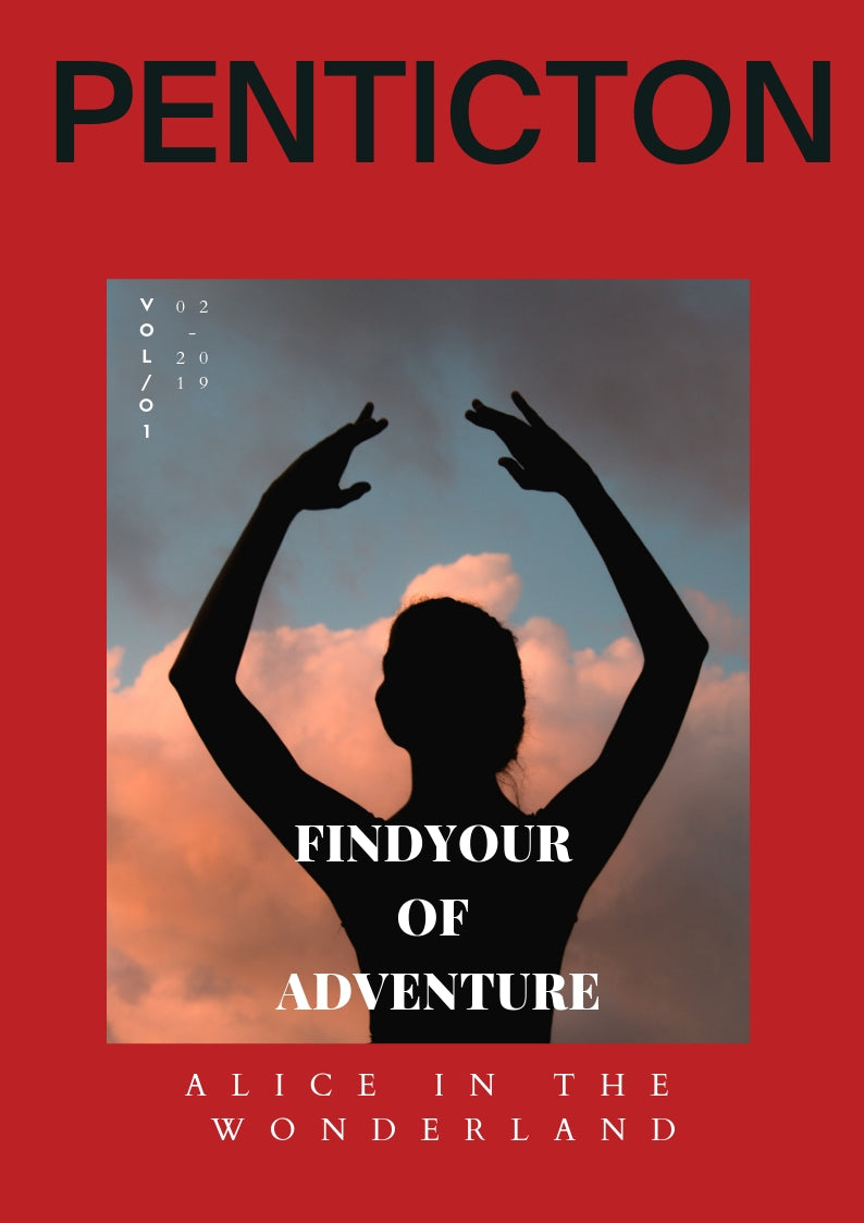 Magazine Cover with dancing ballerina - the secret of adventure
