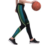 Olivia Active Leggings - Black/Green