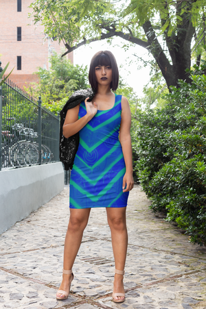 San Valeria Collection: Beachstyle blue dress. MADE TO ORDER
