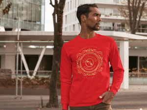 Señor Francisco Collection :Mens long Sleeve T-Shirt, with an Eldragonfly logo. MADE TO ORDER
