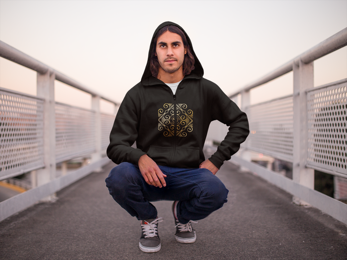 Señor Castilla Collection: Mens hoodys with Eldragonfly Barcelona logo. MADE TO ORDER