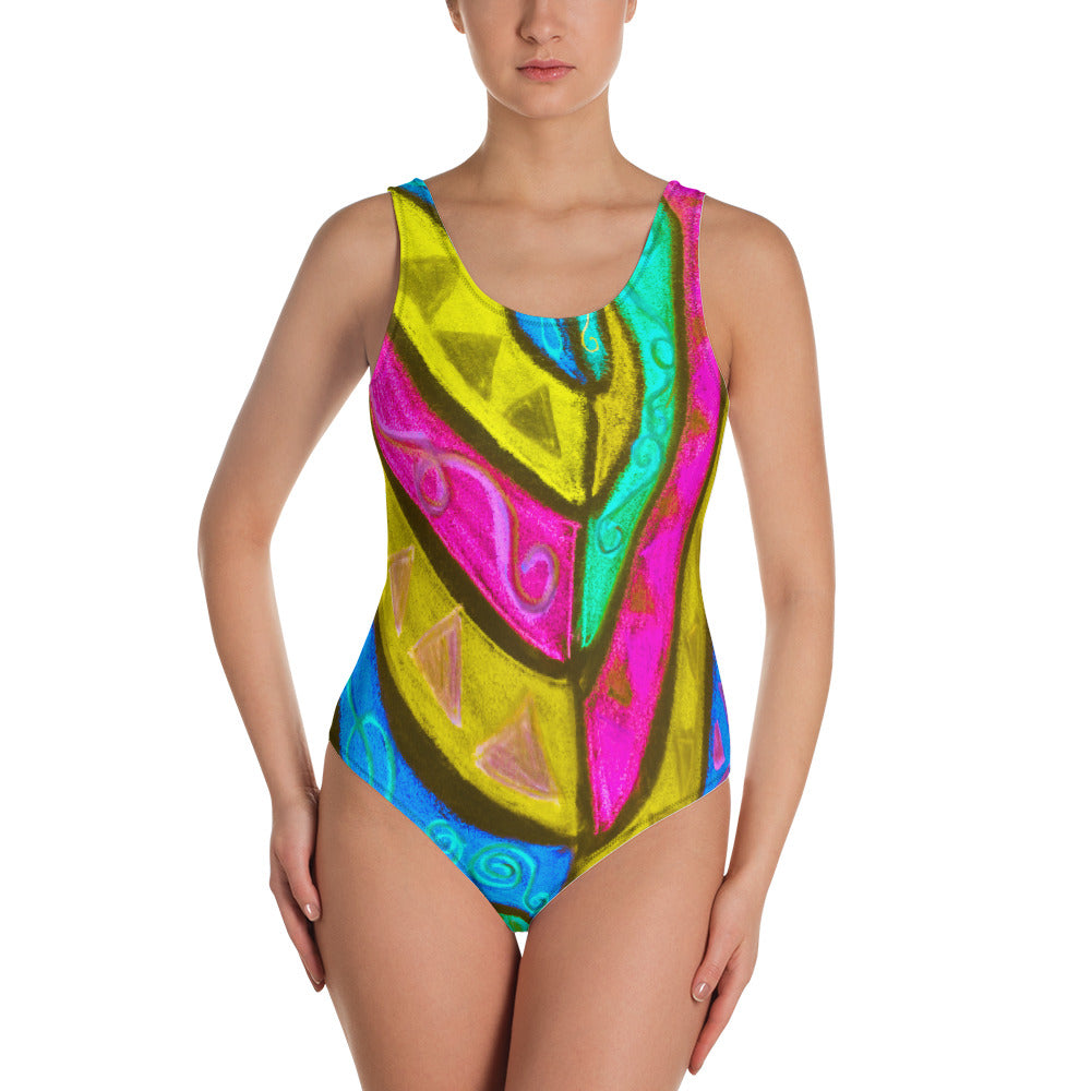 Barcelona beachstyle , one-piece swimsuit : Mariana Collection - dark Color - Eldragonfly Barcelona
