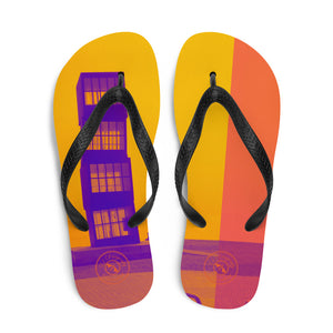 Pop art Barceloneta flip flops- Yellow and orange