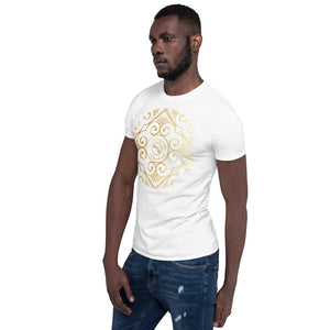 "Eldragonfly logo Collection : Mens Cotton T - Shirt with a positive life quote "" Disfrutar la vida"" (This is Spanish for "" Enjoy the Life"") MADE TO ORDER"