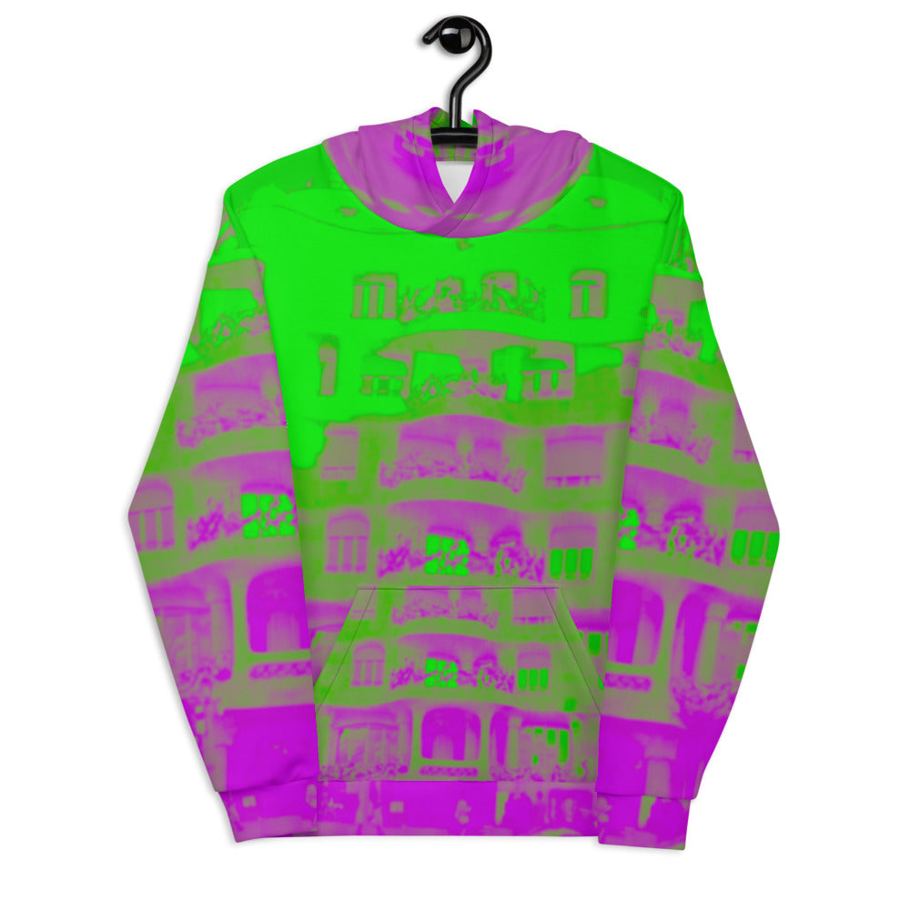 Pedrera Collection : Barcelona city style, unisex Hoodie. (XS-3XL)