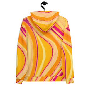 Valeria Collection: Barcelona beachstyle Unisex hoodie yellow  (XS-3XL)