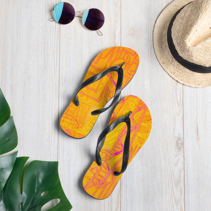 Barcelona beachstyle flipflops: arte callejero Collection -Orange