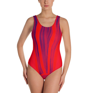 Barcelona beachstyle Womens , one-piece swim suit : Claudita Collection-Red - Eldragonfly Barcelona