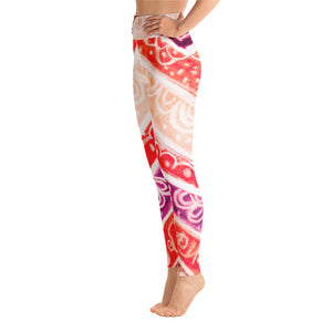 Anna Collection: High waist line with red , pink, purple and Cream, with tribal flowers - MADE TO ORDER - Eldragonfly Barcelona