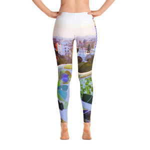 Parc Güell collection: Low waist leggings, on a white background. MADE TO ORDER - Eldragonfly Barcelona