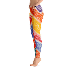Barcelona beachstyle , colorful Womens leggings : Ava Collection - Eldragonfly Barcelona