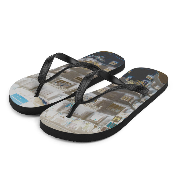 La Pedrera Collection: Beachstyle grey flip flops, influenced from Gaudi.