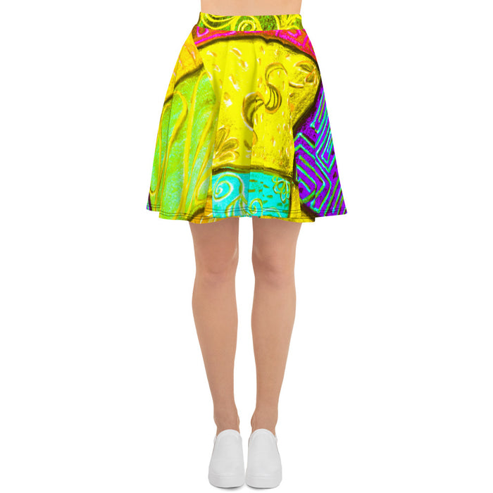 Barcelona beach style Womens skirt : Catalina  Collection- Colorful