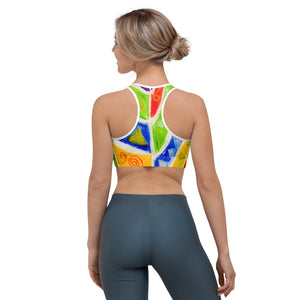 Mediteranean tribal Collection: Beachstyle Sports bra