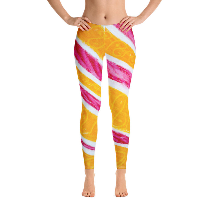 Barcelona beach style leggings , exclusively from Eldragonfly : Magdalena lolly pop collection