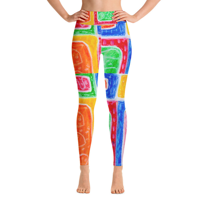 Barcelona beachstyle, Womens yoga Leggings : Señora Bonito Collection - Multi colored