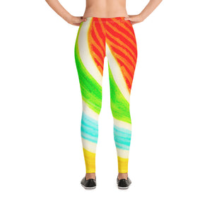 Florita Collection: Low waist multi- coloured vibrant leggings  MADE TO ORDER - Eldragonfly Barcelona