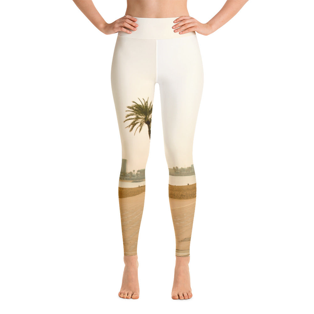 Barceloneta Collection : High waist Baarcelona beach leggings . MADE TO ORDER - Eldragonfly Barcelona