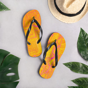 Barcelona beachstyle flipflops: arte callejero Collection -Orange - Eldragonfly Barcelona