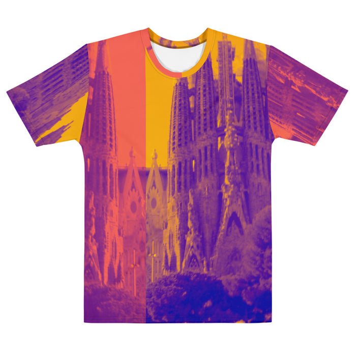 Sagrada Familia Collection: Men's multi coloured T-shirt