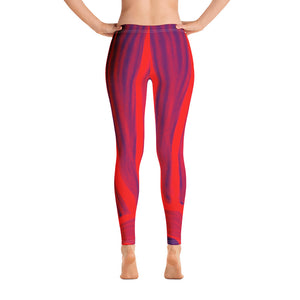Juliana Collection : low waist leggings in red and dark blue leggings - Eldragonfly Barcelona