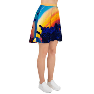 Parc Güell Collection: Womens skirts , an exclusive Eldragonfly print design. MADE TO ORDER - Eldragonfly Barcelona