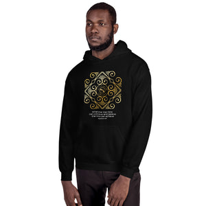 eldragonfly mens hoody with a napoleon hill quote