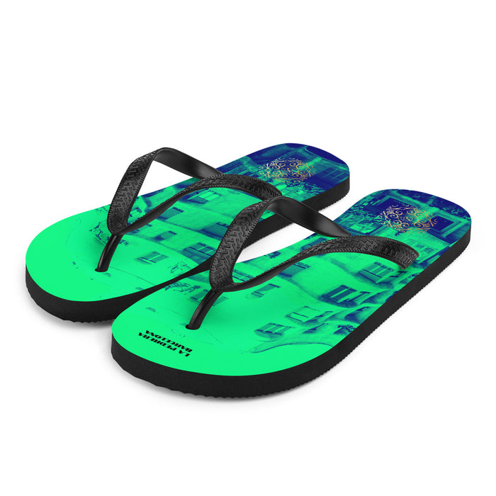 La Pedrera Collection: Beachfashion style mint flip flops