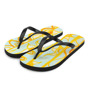 Barcelo Collection:  Barcelona beach style Med. flip flops. Made to order