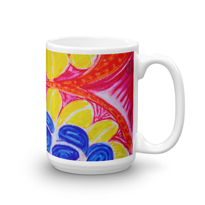 Yellow Mediterranean flower Mug