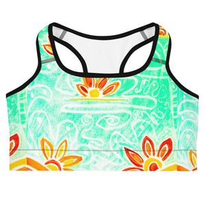 San Suzana Flora Collection: Womens floral sports bra