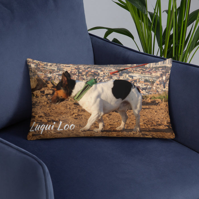 Pillow with Luqui loo the Jack Russel