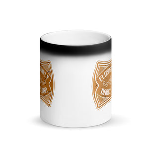 Vintage design (numero dos )Matte Black Magic Mug - Eldragonfly Barcelona