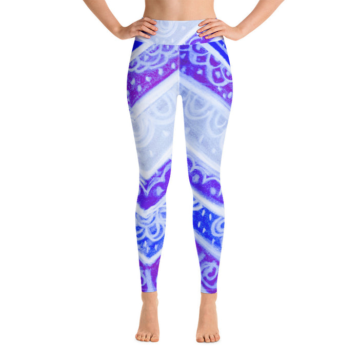 Barcelona beachstyle, Womens yoga Leggings  :Anna Collection - blue