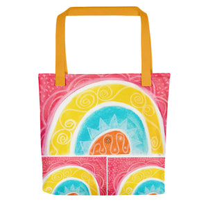 Barcelona beach bags , with mediterranean style flowers , designed by eldragonfly barcelona - Eldragonfly Barcelona