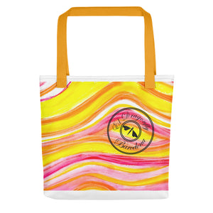 Barcelona beach bags , with mediterranean impressionist waves  , designed by eldragonfly - Eldragonfly Barcelona