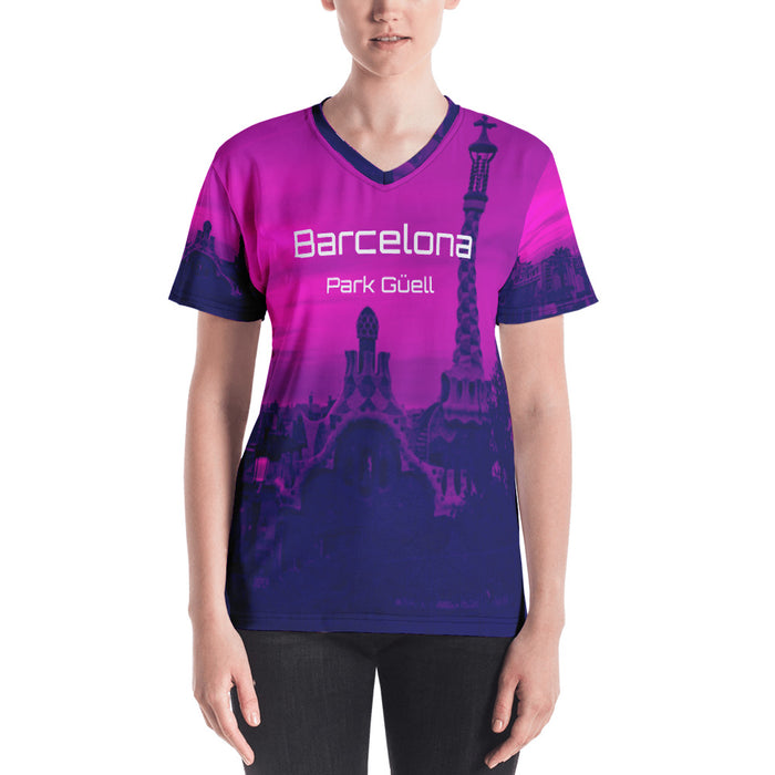 Barcelona beachstyle ,Womens  sports, top, : Parc Güell Collection- purple