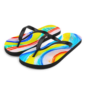 La Mar collection: flip flops  (multi-coloured ) MADE TO ORDER - Eldragonfly Barcelona