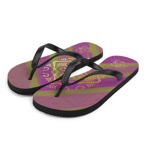 Natalia Collection: Purple unisex flip flops