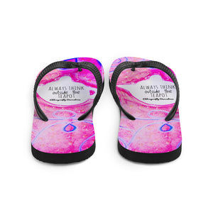 Barcelona beachstyle Flip-Flops : Always think outside the teapot: Pink - Eldragonfly Barcelona