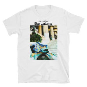 Parc Güell Collection : Unisex T shirt, ringspin Cotton. MADE TO ORDER - Eldragonfly Barcelona