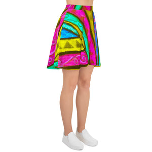 Barcelona beach style , Womens Skirt , with an Eldragonfly design print : Nina Collection - Eldragonfly Barcelona