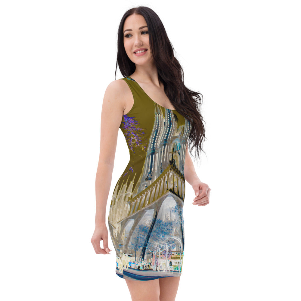 sagrada familia  designer dress from eldragonfly Barcelona