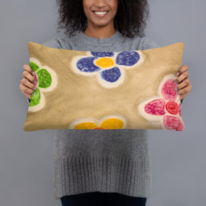 Barcelona beach style  flower design,  pillow cases , exclusively from us - Eldragonfly Barcelona