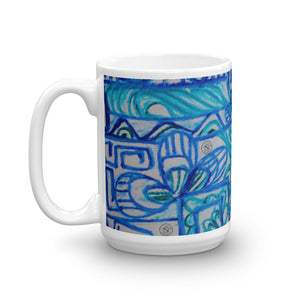 Señor Juan Pablo collection - blue Mug - Eldragonfly Barcelona
