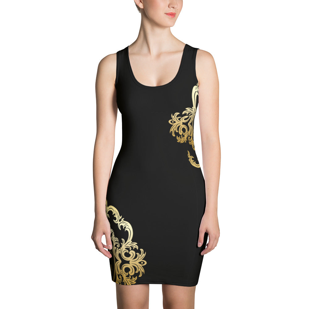 Señorita Alba de la Vega Collection : Black baroque dress. MADE TO ORDER