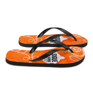 "Barcelona beachstyle flipflops ""sigue tus sueños"" -orange - Eldragonfly Barcelona"