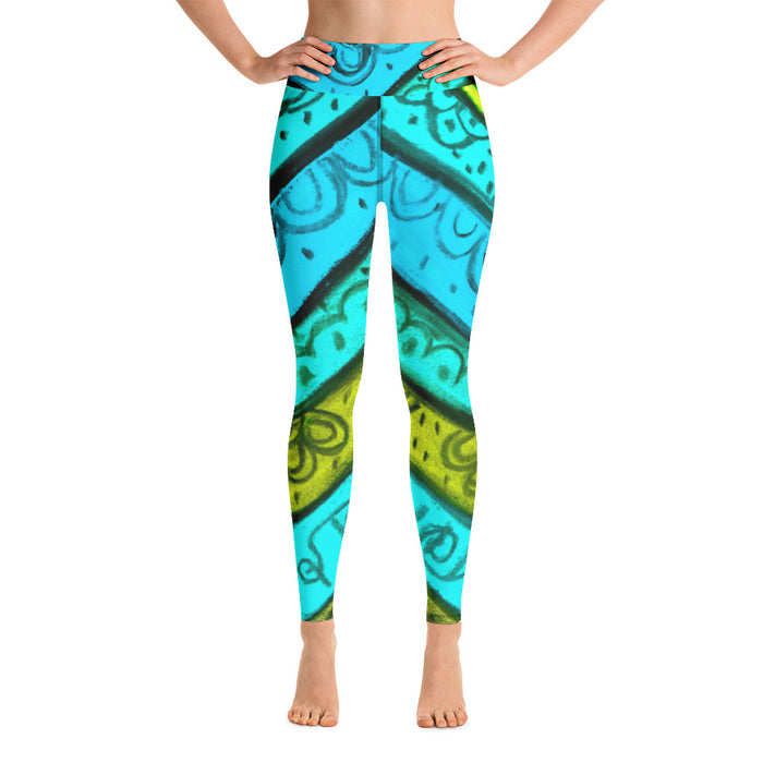 Womens yoga Leggings with an Eldragonfly Barcelona Beachstyle, very comfortable  :Anna Collection - Serpia